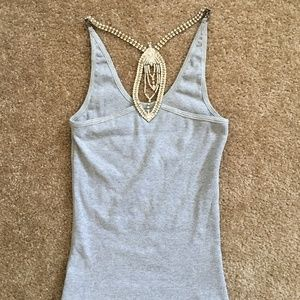 Sky Brand Grey Embellish Tank Top Size XS